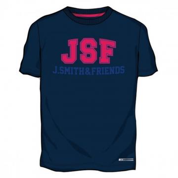 Camiseta Manga Corta Deportiva John Smith Fencis. Azul Marino.