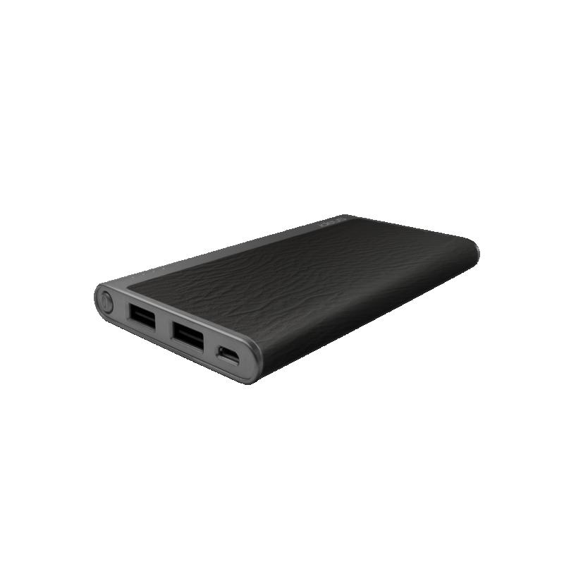 Batería externa Pol-Litio 5000 mAh Piel negro