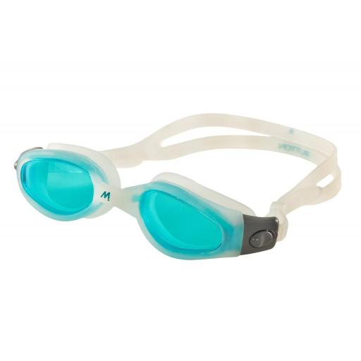Gafas de Piscina Adulto Mosconi Button 200.66. Colores Azul, Blanco, Verde.