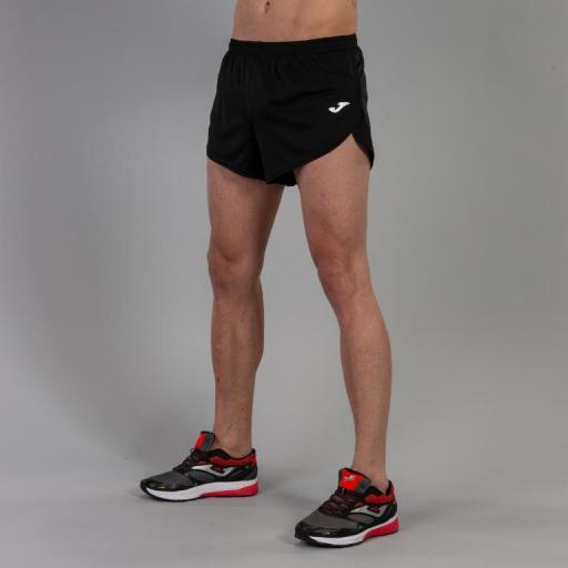 Pantalón corto Running Hombre Joma Short Record. 100091.100 Black. [2]