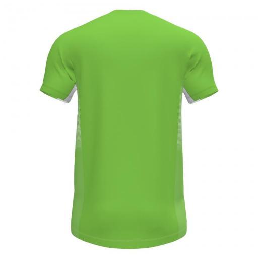 Camiseta Running Hombre Joma Elite VII. 101519.020. Flúor Green-white.  [1]