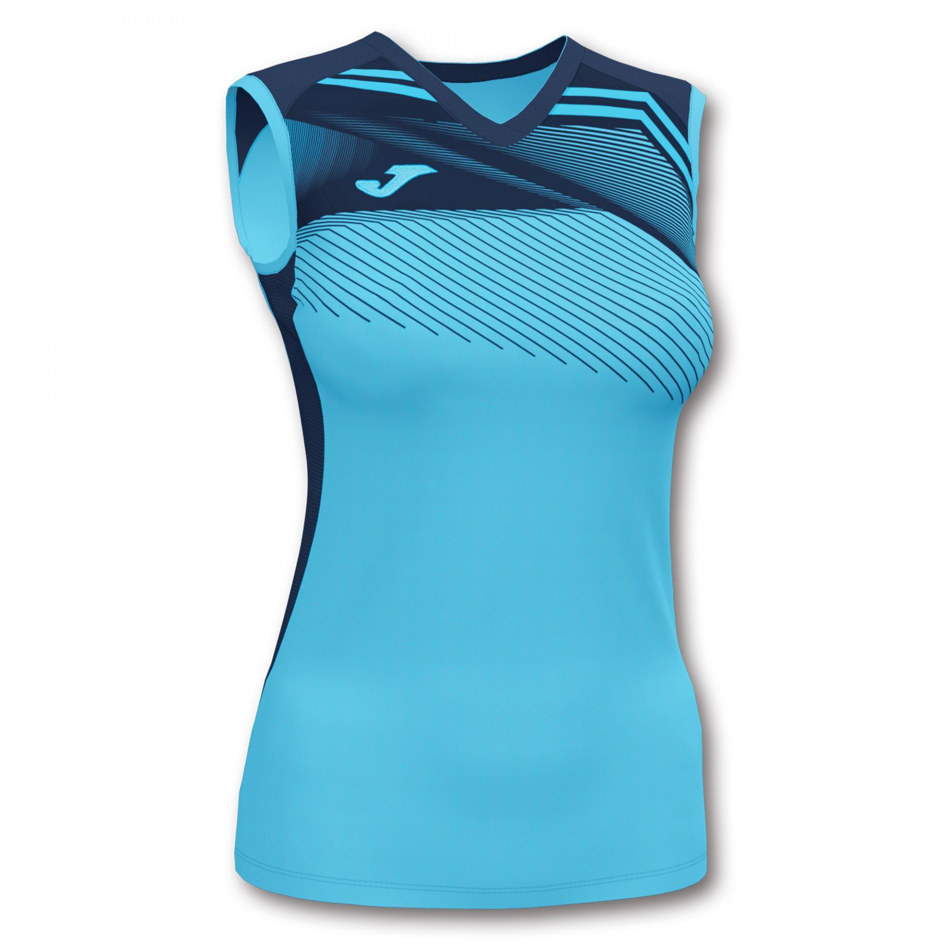 Camiseta Mujer Running Joma Supernova II. Turquesa-marino. S/M. 901126.013.