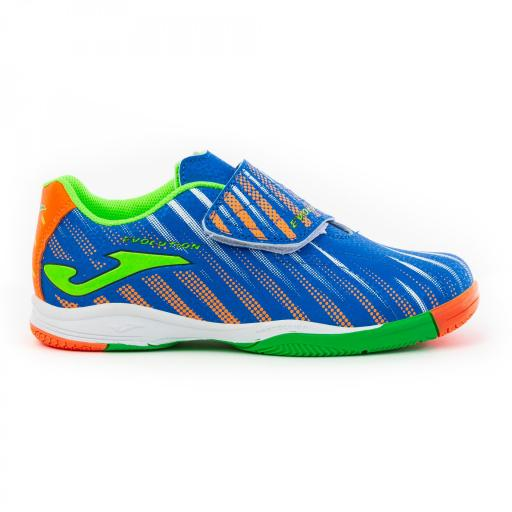 Zapatillas JOMA EVOLUTION JR 2004 royal- verde indoor