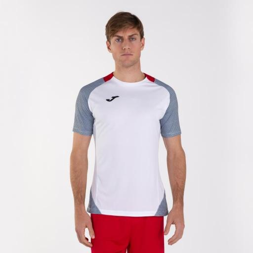Camiseta Joma Essential II. White-Dark navy. 101508.203 [0]