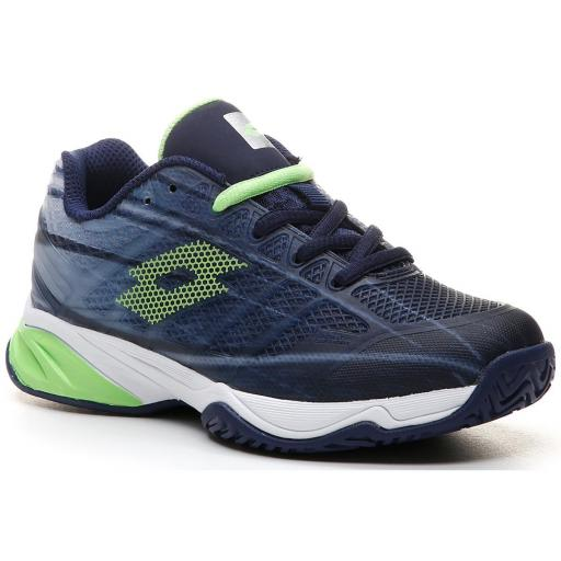 Zapatilla Tenis Pádel Lotto Mirage 300 ALR Junior. 210746. Navy blue/green. [1]