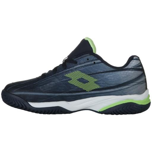 Zapatilla Tenis Pádel Lotto Mirage 300 ALR Junior. 210746. Navy blue/green. [2]