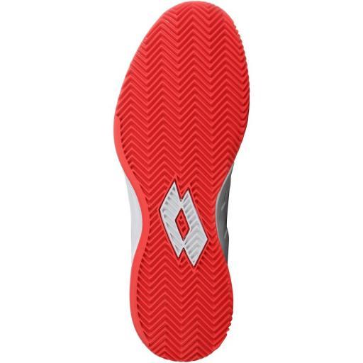 Zapatillas Pádel LOTTO MIRAGE 200 CLY. 213626. White/red [3]