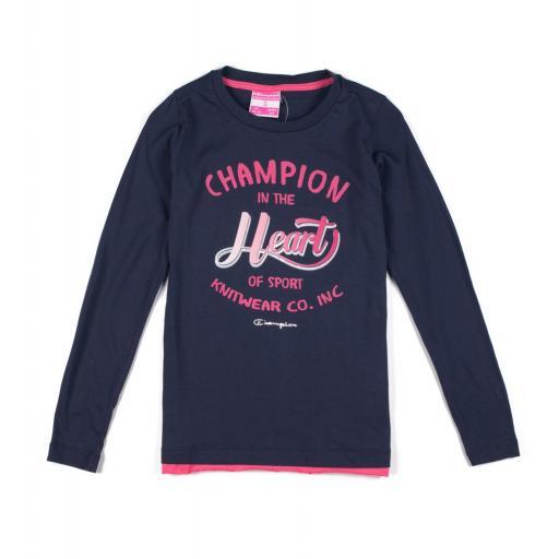 CHAMPION Camiseta manga larga , Niña . 403017 .  [1]