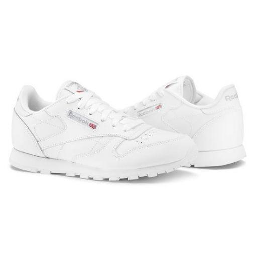 ZAPATILLA CASUAL NIÑA REEBOK CLASSIC LEATHER JUNIOR . WHITE.