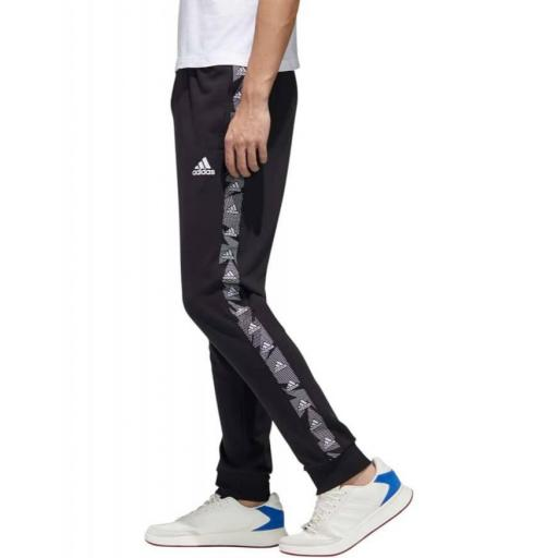 Pantalón Adidas Essentials Tape. Black/white. GD5451