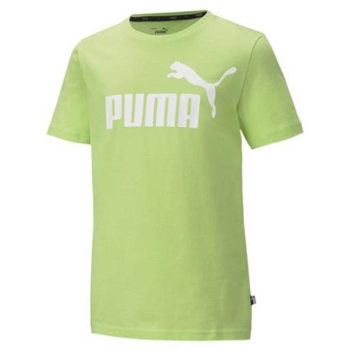 Puma Junior Essentials 2 Col Logo Tee. Verde. 583230 34