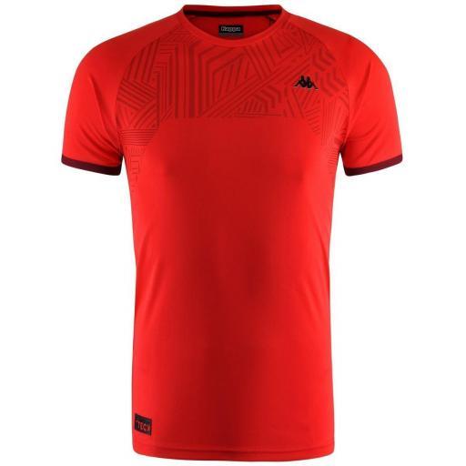 Camiseta Deportiva Manga Corta Kappa Swan. 303SPZ0. Red.