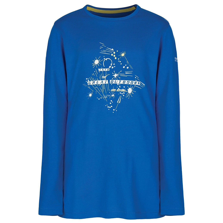 REGATTA WILDER , Camiseta manga larga Niño. RKT068. Azul.