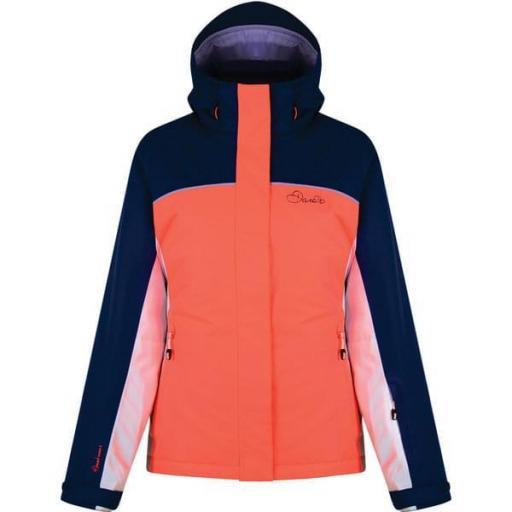 Chaqueta Ski Mujer DARE2B Ingress DWP364. Coral-blanco. [1]