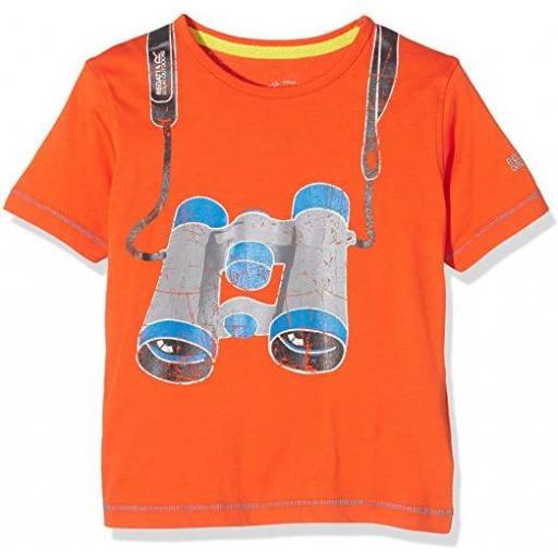 Camiseta manga corta Regatta Bobbles. RKT059 Orange.