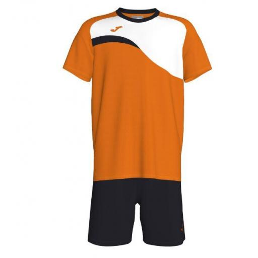 Conjunto Joma Colle Junior Set. Flúor Orange-black.