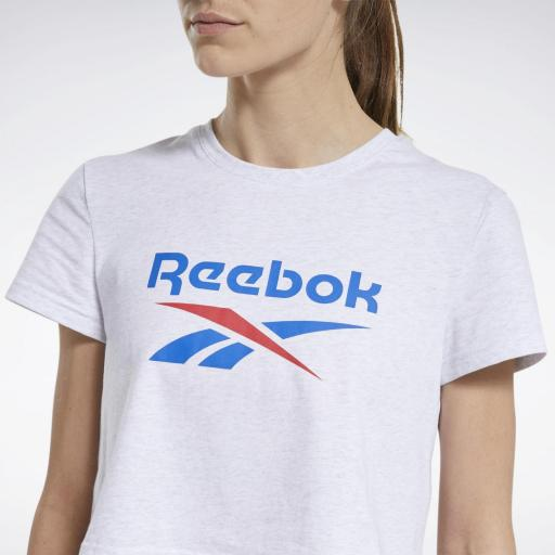 Reebok CL F Big Logo Tee. White FT8179