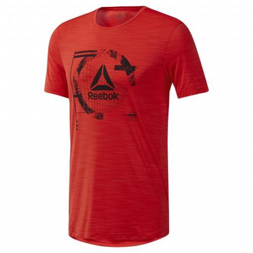Camiseta hombre Reebok Wor Activchill Graph SS T. DU2124 Canred. [3]