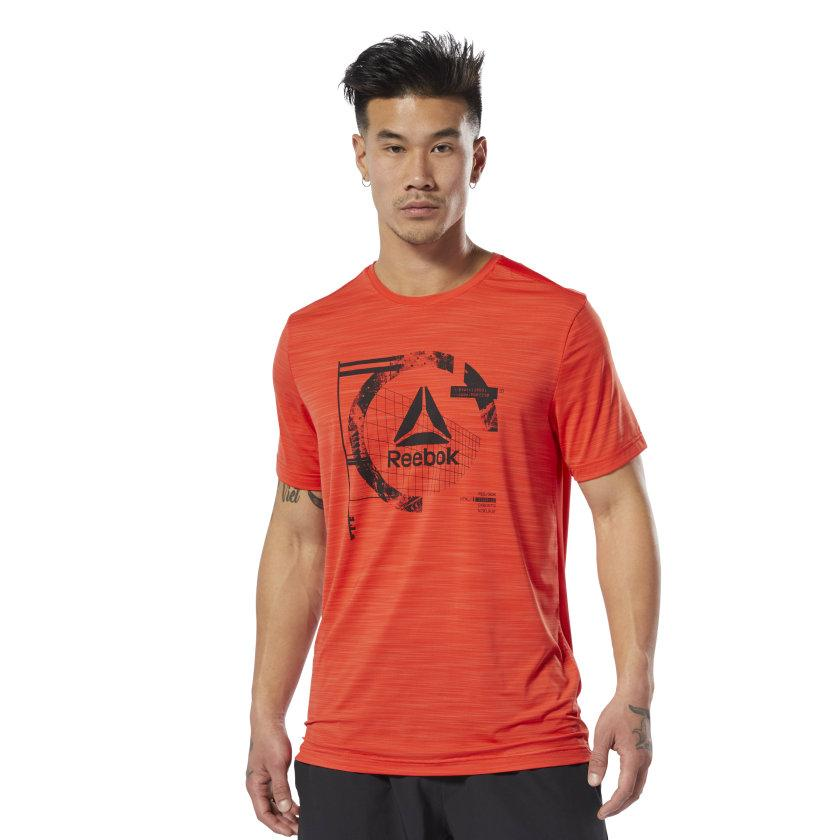 Camiseta hombre Reebok Wor Activchill Graph SS T. DU2124 Canred.