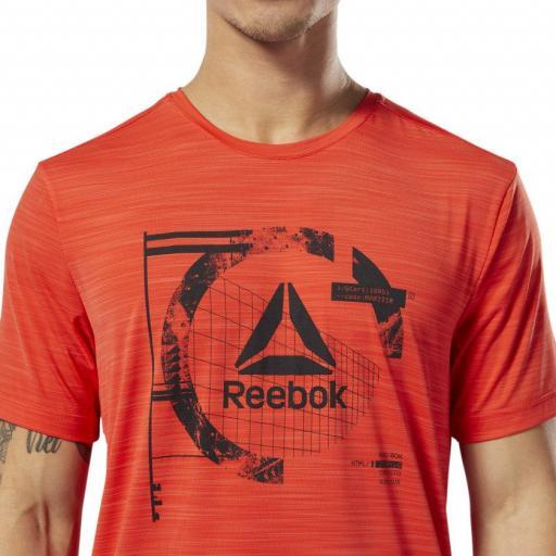 Camiseta hombre Reebok Wor Activchill Graph SS T. DU2124 Canred. [2]
