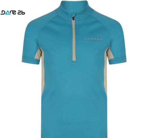 Maillot manga corta azul de ciclismo para niñosDARE2B Protégé Ii Jersey