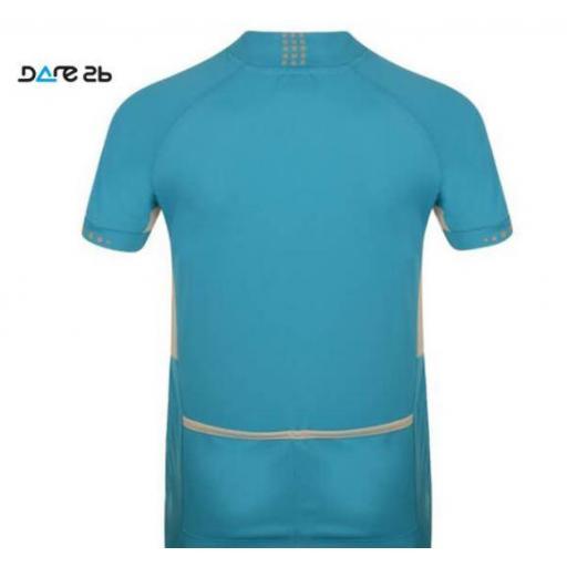 Maillot manga corta azul de ciclismo para niñosDARE2B Protégé Ii Jersey [1]