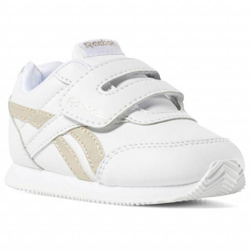 Zapatilla moda bebé Reebok Royal CL Jog 2 KC. DV6949. White/gold [2]