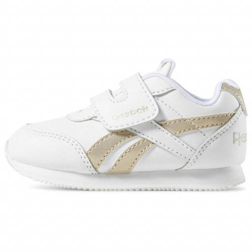 Zapatilla moda bebé Reebok Royal CL Jog 2 KC. DV6949. White/gold