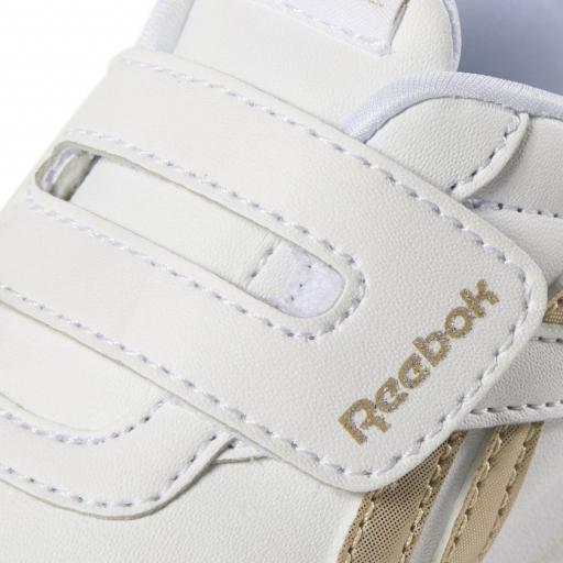 Zapatilla moda bebé Reebok Royal CL Jog 2 KC. DV6949. White/gold [3]