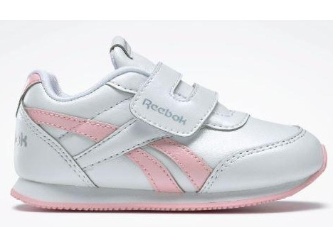 Zapatilla Bebé REEBOK ROYAL CLJOG 2 KC INFANTS. DV9018. White/pink.