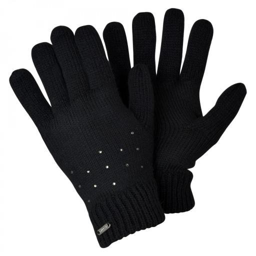 Dare2B Bejewel Conjunto Gorro&guantes. Black DWC362. [1]