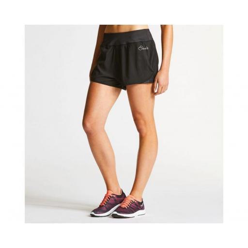 Pantalón corto Mujer dos capas . DARE2B ENCLOSE SHORT. DWJ383 . Black [2]