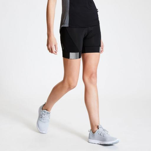 Culotte Mujer Ciclismo Dare2B AEP Propell Short. Black. DWJ469