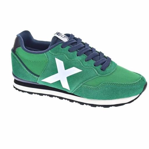 ZAPATILLA CASUAL MUNICH DAS KID VERDE/BLANCO