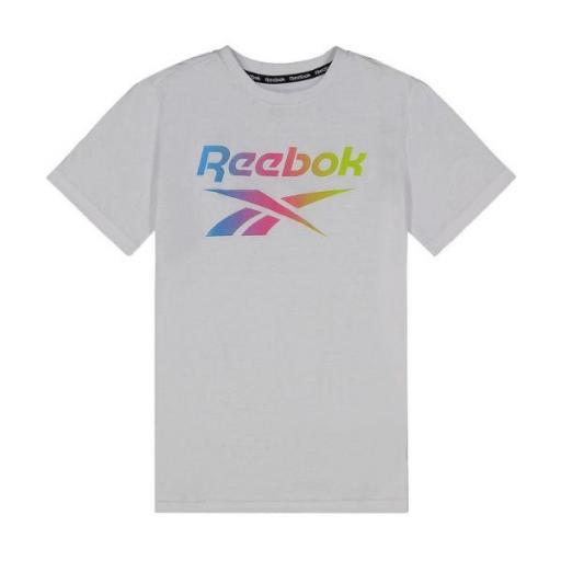 REEBOK S/S Tee. Camiseta Niño. EX7618 White.  [0]