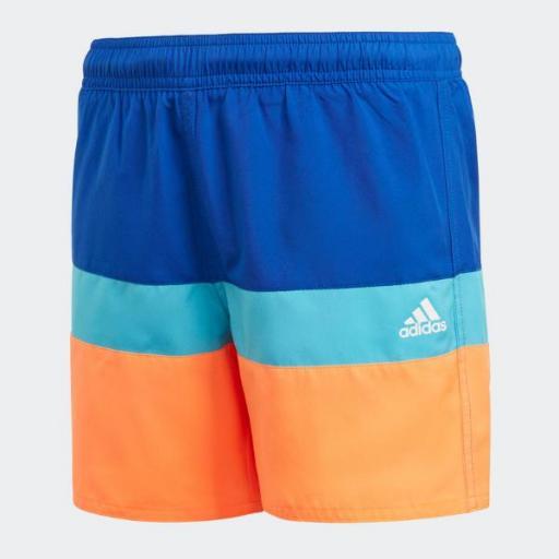 ADIDAS YB CB SHORTS. Bañador niño. GQ1066. Orange/blue.