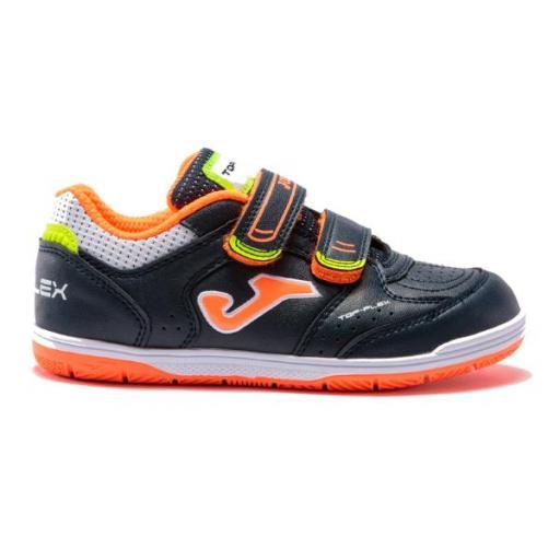 Zapatillas JOMA TOP FLEX JR2103. Navy orange indoor. TPJW2103INV