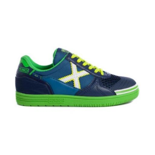 Munich G-3 Kid Indoor 174. 1511174 Azul/Verde.