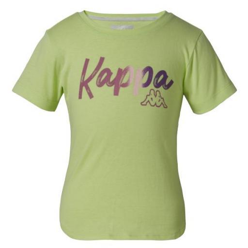 KAPPA Camiseta Quissa Niña verde. 3119YJW.