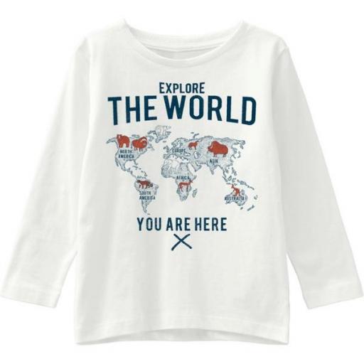NAME IT Camiseta manga larga Niño. NMMVAGNO Ls Loose. 13181136. White.