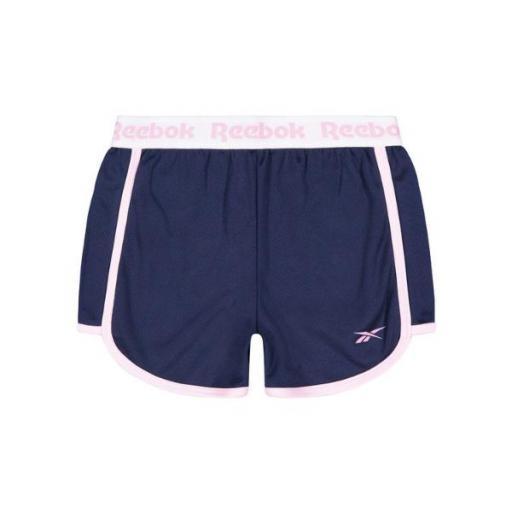 REEBOK Waist Short. EX7709 Navy. Pantalón corto niña.