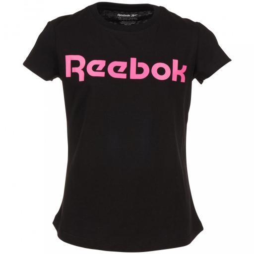 Camiseta Lit Intl Reebok Word. Black/pink. EW8286