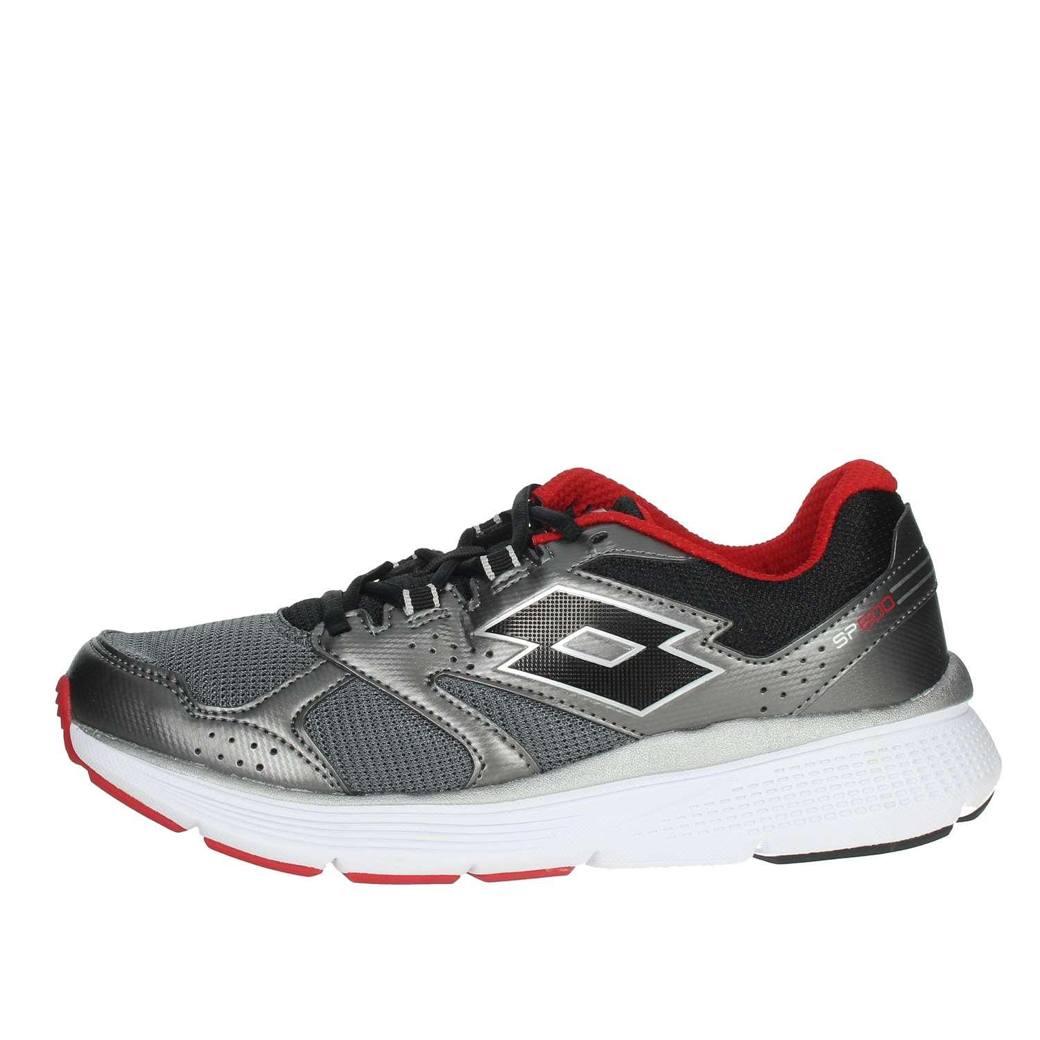 Zapatilla Running Lotto Speedride 600 VI. 211819 5D2. Gris/rojo