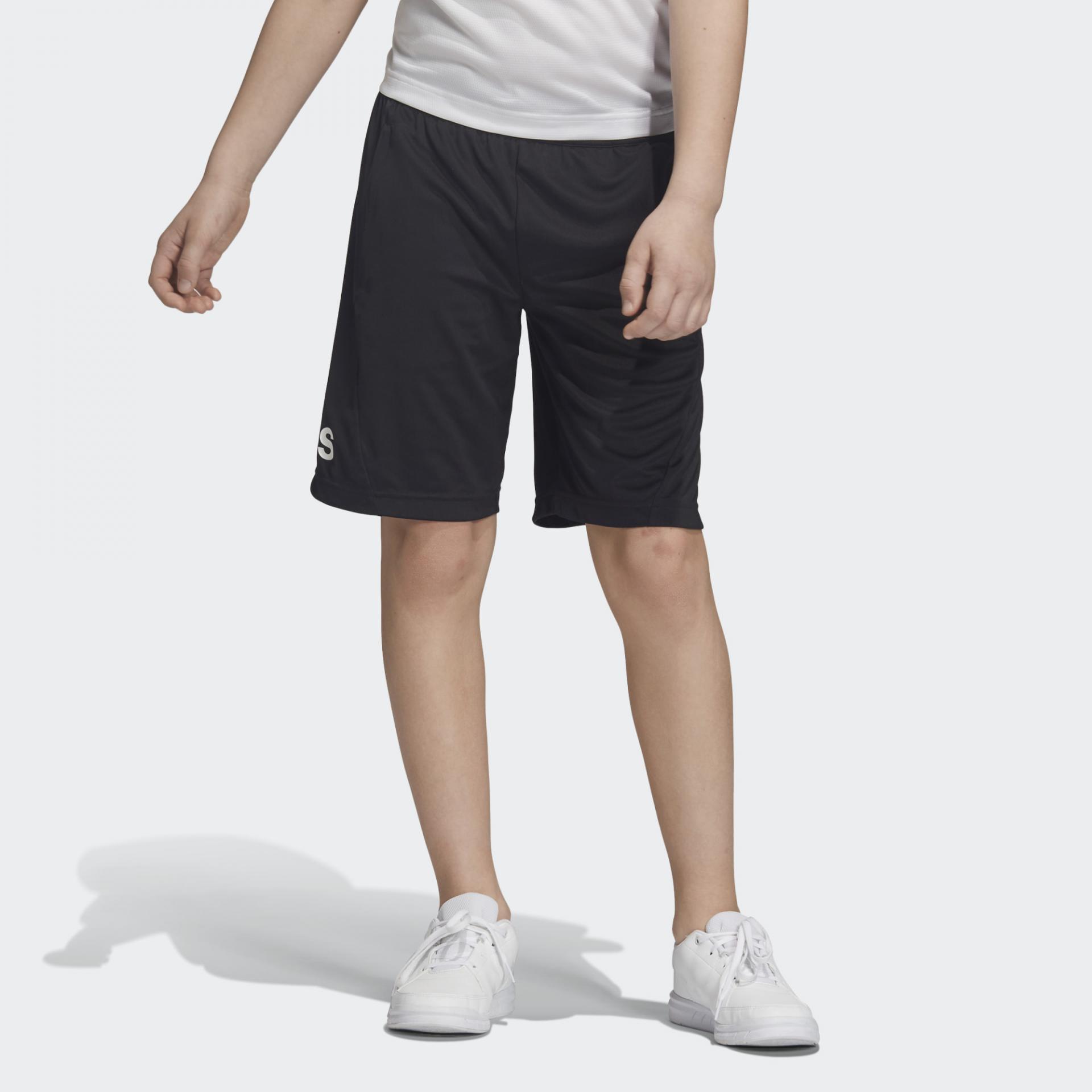 Pantalón corto niño Adidas Training EQ. DV2918. Black/white.