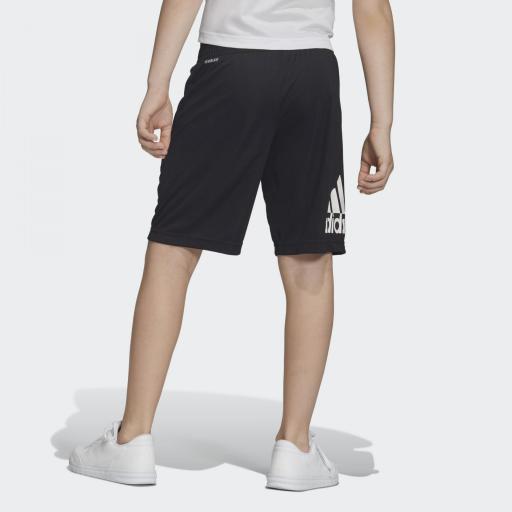 Pantalón corto niño Adidas Training EQ. DV2918. Black/white. [1]