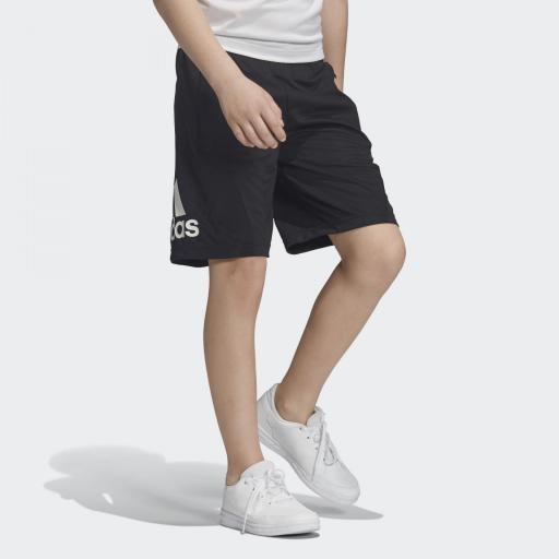 Pantalón corto niño Adidas Training EQ. DV2918. Black/white. [2]