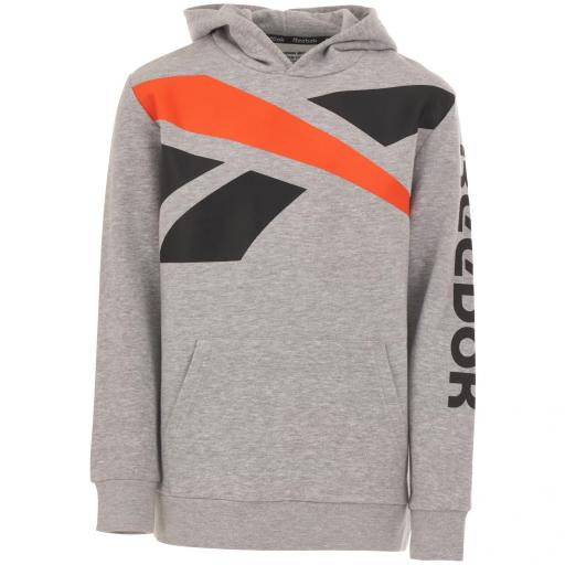 Reebok Sudadera Big Intl Fleece. Color Light Heather Grey. EW8604 [0]