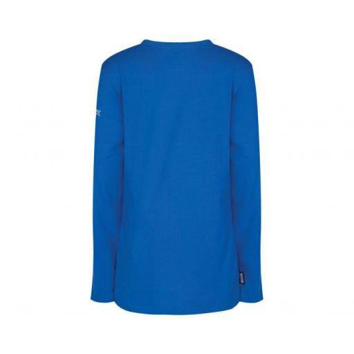 REGATTA WILDER , Camiseta manga larga Niño. RKT068. Azul.  [1]