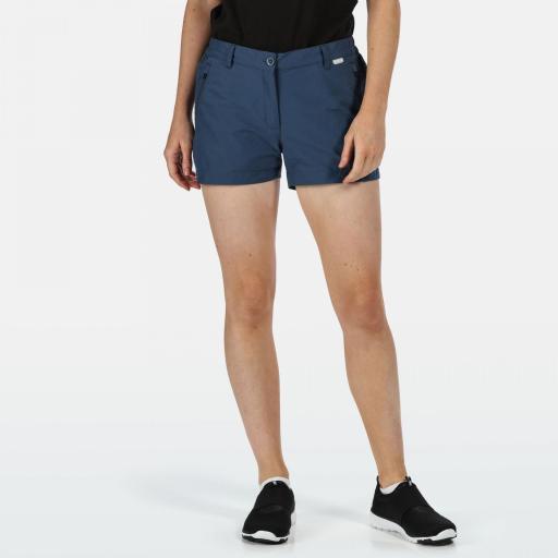 Pantalones Trekking Mujer Regatta Highton Short. RWJ211 Dark Denim [0]