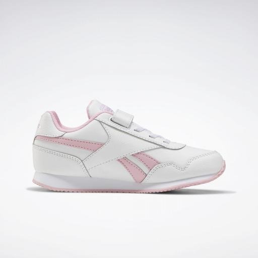 Reebok Royal Classic Jogger 3.0 1V Kids. FV1485. White/pink. [1]